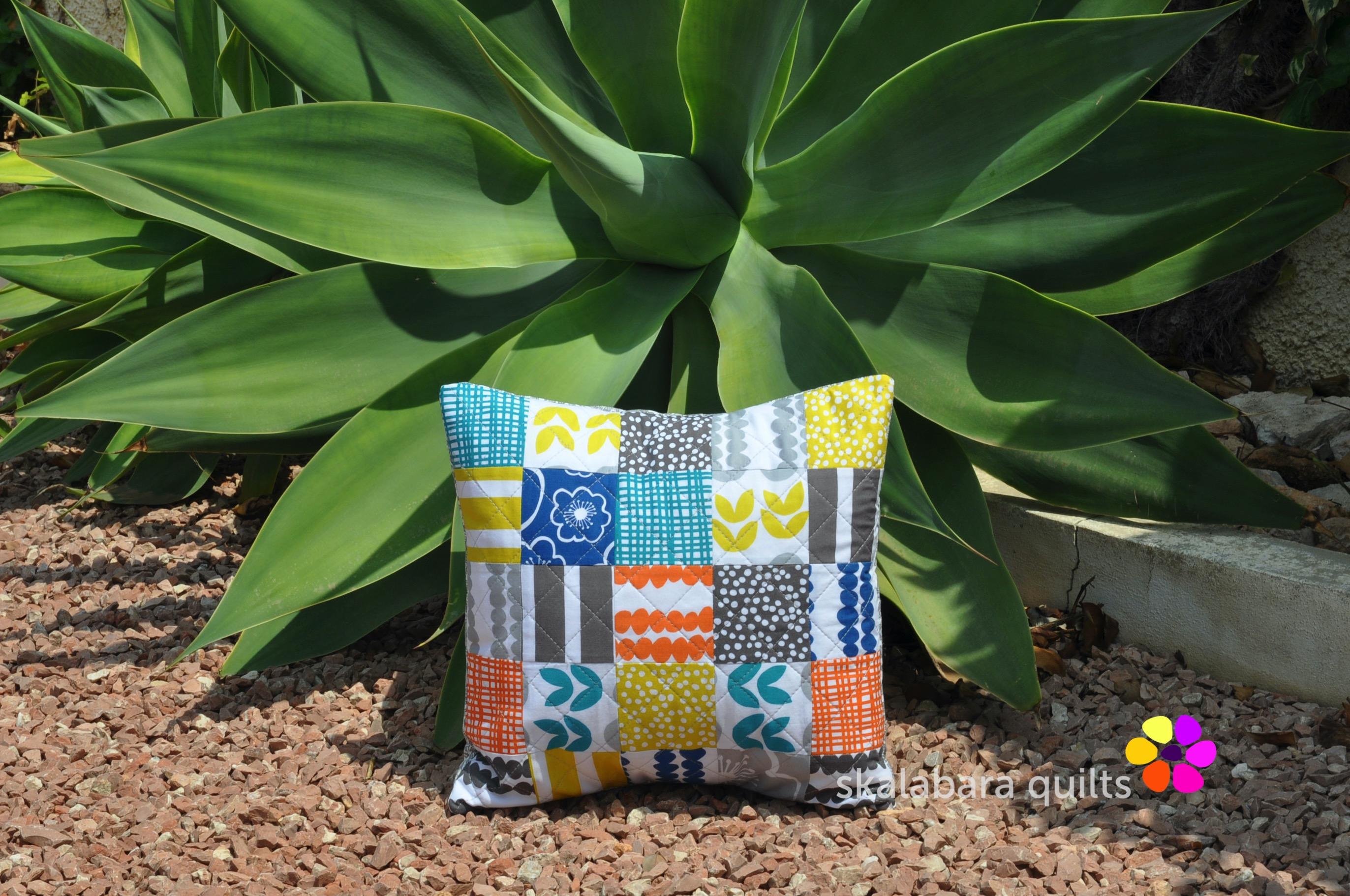 bella cushion cover squares large - skalabara quilts