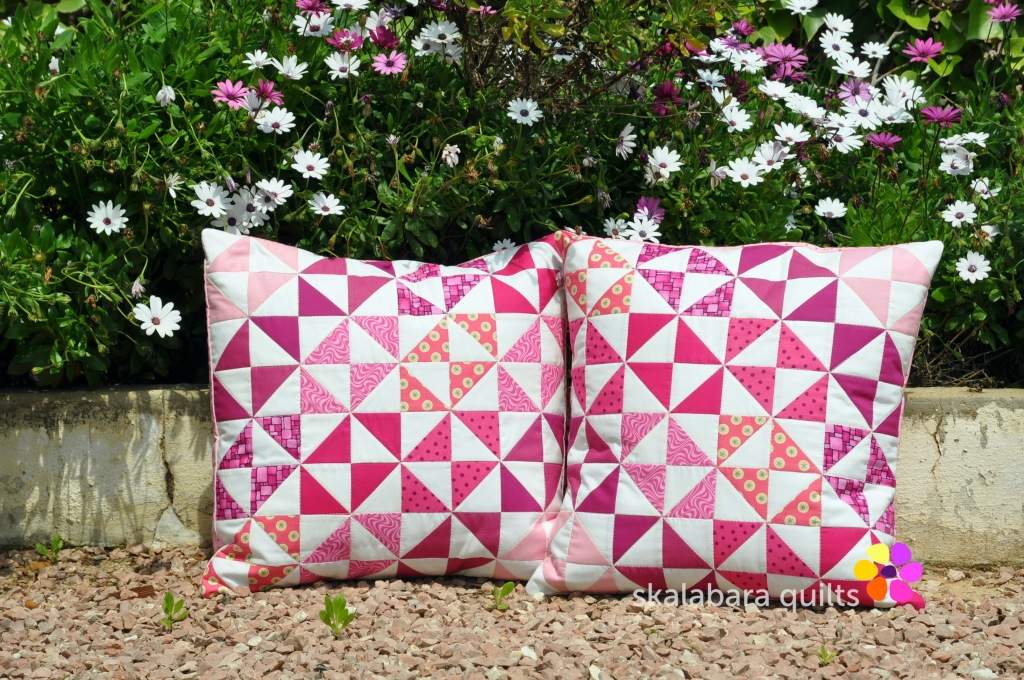 cushion covers broken dishes in pink 3 - skalabara quilts