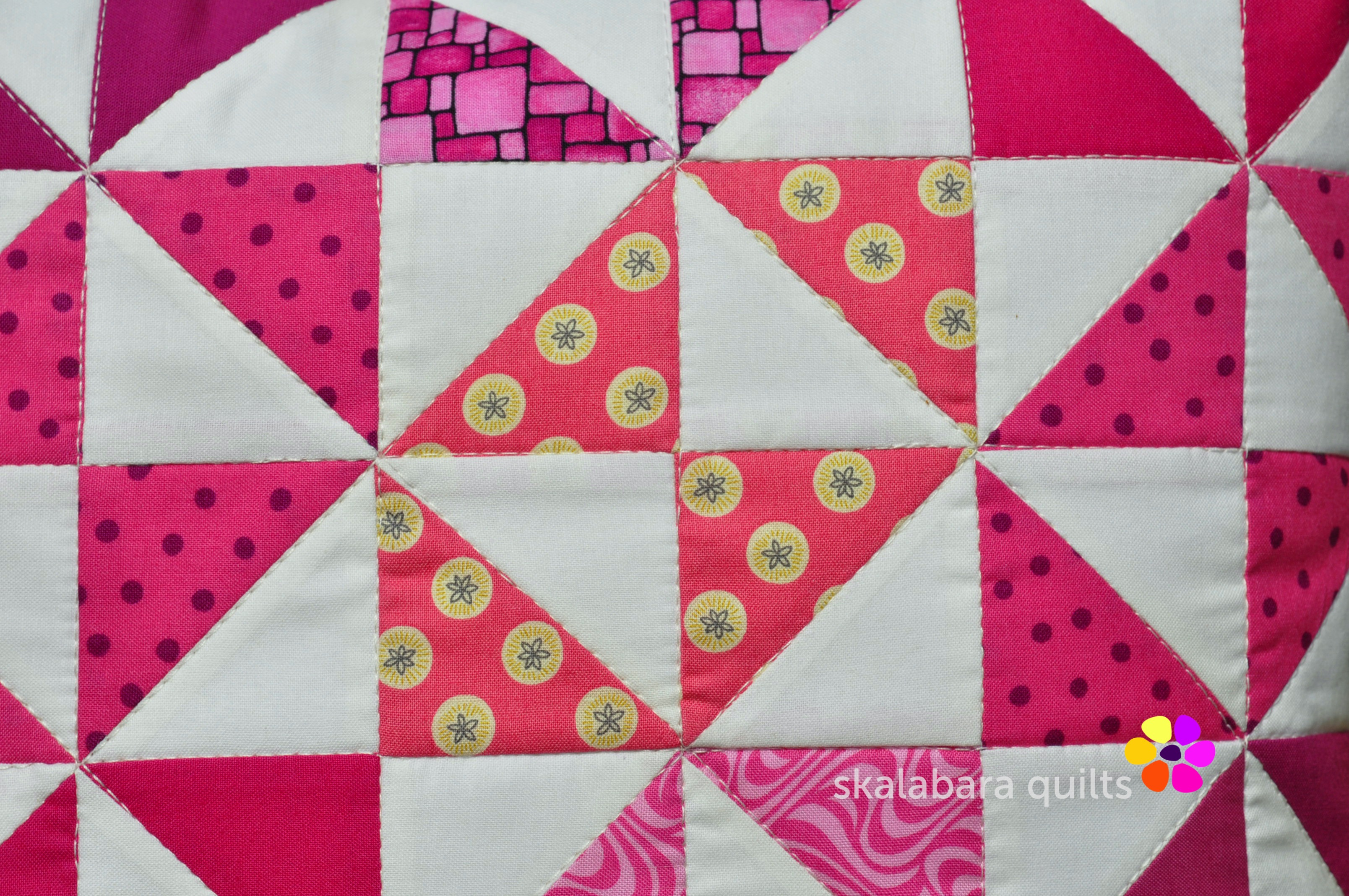 cushion covers broken dishes in pink detail 1 - skalabara quilts